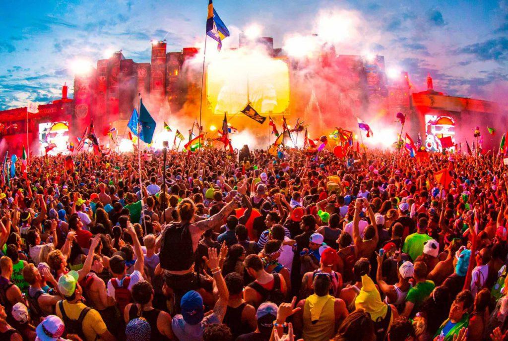 Festivales de música de verano luces