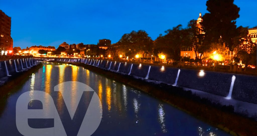 Iluminación del río Segura en Murcia