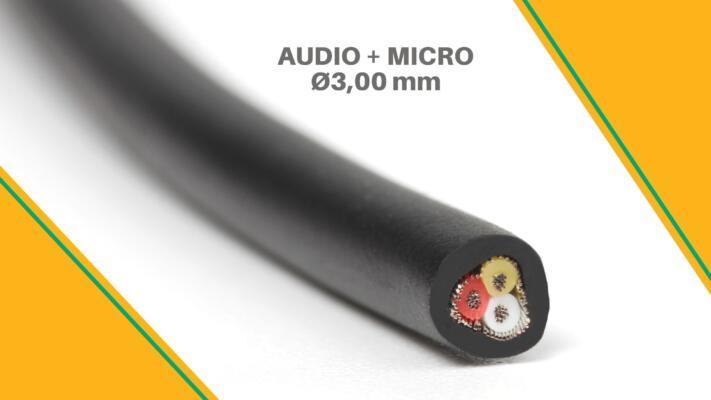 NUEVO CABLE DE AUDIO + MICRO Ø3,00 mm